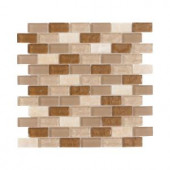 Jeffrey Court Honey Onyx Brick 12 in. x 12 in. Onyx Floor / Wall Tile