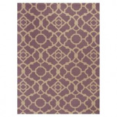 Kas Rugs Chateau Purple/Beige 5 ft. x 7 ft. Area Rug
