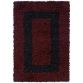 LR Resources G2G Flame 7 ft. 10 in. x 11 ft. 2 in. Plush Indoor Area Rug