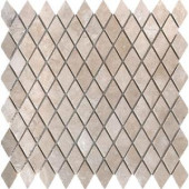 MS International Colisseum 1 in. x 1 in. Rhomboid Mosaic Tumbled Travertine Floor & Wall Tile