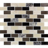 MS International Citadel Blend 12 in. x 12 in. Glass/Stone Mosaic Wall Tile