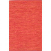 Chandra India Bright Red 3 ft. 6 in. x 5 ft. 6 in. Indoor Area Rug