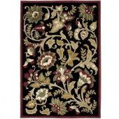 Orian Rugs Devore Black 6 ft. 7 in. x 9 ft. 8 in. Area Rug