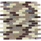 MS International Rolling Hills Brick Pattern 12 in. x 12 in. Glass/Stone Blend Mesh-Mounted Mosaic Wall Tile