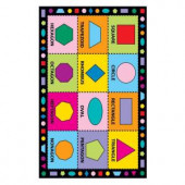 LA Rug Inc. Fun Time Shapes Multi Colored 39 in. x 58 in. Area Rug