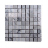 Splashback Tile Oriental Squares Marble Floor and Wall Tile - 6 in. x 6 in. Tile Sample