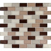 MS International Ayres 12 in. x 12 in. Blend Glass Mesh-Mounted Mosaic Tile