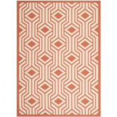 Safavieh Courtyard Beige/Terracotta 4 ft. x 5.6 ft. Area Rug