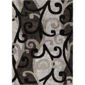 Orian Rugs Spirit Black 7 ft. 10 in. x 10 ft. 10 in. Area Rug