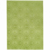 Garland Rug Large Peace Lime 5 ft. x 7 ft. Area Rug