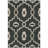 Safavieh Dhurries Chocolate/Ivory 5 ft. x 8 ft. Area Rug