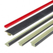 Fastrim 5-Piece 47 in. Black and White Chess Slate Laminate Moulding Kit-DISCONTINUED