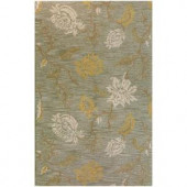 BASHIAN Valencia Collection Subtlety Light Green 3 ft. 6 in. x 5 ft. 6 in. Area Rug