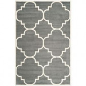 Safavieh Chatham Dark Grey/Ivory 6 ft. x 9 ft. Area Rug