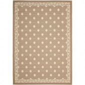 Safavieh Courtyard Dark Beige/Beige 8 ft. x 11 ft. Area Rug