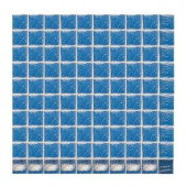Daltile Sonterra Glass Crystal Blue Iridescent 12 in. x 12 in. x 6mm Glass Sheet Mounted Mosaic Wall Tile (10 sq. ft. / case)