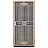 Unique Home Designs Pima 36 in. x 80 in. Tan Outswing Security Door with Insect Screen