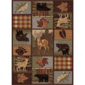 Tayse Rugs Nature Multi 7 ft. 10 in. x 10 ft. 3 in. Lodge Area Rug