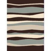 Home Dynamix Bazaar Zag Dark Brown 7 ft. 10 in. x 10 ft. 1 in. Area Rug