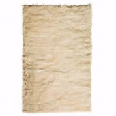Home Decorators Collection Faux Sheepskin Beige 10 ft. x 13 ft. Area Rug