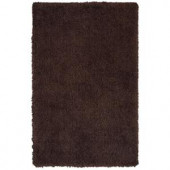 LR Resources Senses Shag Tri-Chocolate 7 ft. 9 in. x 9 ft. 9 in. Plush Indoor Area Rug