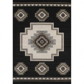 United Weavers Mountain Black 5 ft. 3 in. x 7 ft. 6 in. Area Rug