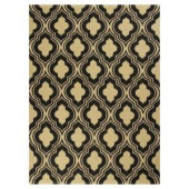 Kas Rugs Palace Row Black/Beige 3 ft. 3 in. x 5 ft. 3 in. Area Rug