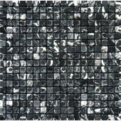MS International Nero 12 in. x 12 in. Marquina Marble Mesh-Mounted Mosaic Tile