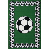 LA Rug Inc. Fun Time Soccer Time Multi Colored 39 in. x 58 in. Area Rug
