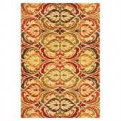 Kas Rugs Tapestry Leaf Jewel 7 ft. 10 in. x 9 ft. 10 in. Area Rug