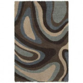 Mohawk Ink Swirl Cocoa 8 ft. x 10 ft. Area Rug