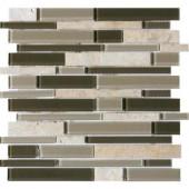 MS International Kings Gate Interlocking 12 in. x 12 in. Glass/Stone Blend Mesh-Mounted Mosaic Wall Tile