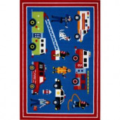 LA Rug Inc. Olive Kids Heroes Multi Colored 19 in. x 29 in. Accent Rug