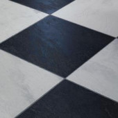 Innovations Black and White Chess Slate 8 mm Thick x 11-3/5 in. Wide x 46-1/4 in. Click Lock Laminate Flooring (18.56 sq. ft./case)