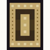 United Weavers Mystic Square Black 7 ft. 10 in. x 10 ft. 6 in. Contemporary Area Rug