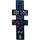 LA Rug Inc. Fun Time Shape Hopscotch w/Counters Multi Colored 30 in. x 78 in. Area Rug