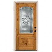 Steves & Sons Star 3/4-Arch Lite Prefinished Knotty Alder Wood Entry Door