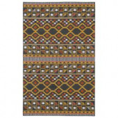 Kaleen Nomad Charcoal 3 ft. 6 in. x 5 ft. 6 in. Area Rug
