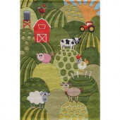 Momeni Caprice Collection Grass 5 ft. x 7 ft. Area Rug