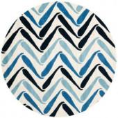 Safavieh Soho Ivory/Blue 6 ft. x 6 ft. Round Area Rug