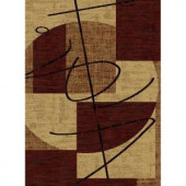 United Weavers Intrigue Cream 7 ft. 10 in. x 10 ft. 6 in. Area Rug