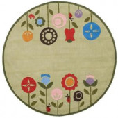 Momeni Caprice Collection Grass 5 ft. x 5 ft. Round Area Rug