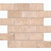 MS International Tuscany Ivory 12 in. x 12 in. Honed Travertine Mesh-Mounted Mosaic Wall Tile