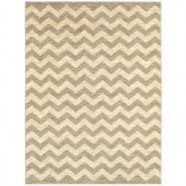 Shaw Living Breaking Waves Grey 5 ft. x 7 ft. 9 in. Area Rug