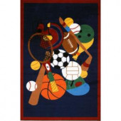 LA Rug Inc. Fun Time Sports America Multi Colored 39 in. x 58 in. Area Rug