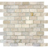 MS International Chiaro Brick 1 in. x 2 in. Travertine Mosaic Floor & Wall Tile