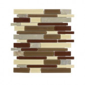 Jeffrey Court Mountain Top Pencil 12 in. x 12 in. Glass/Slate Mosaic Wall Tile