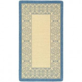 Safavieh Courtyard Natural/Blue 2.6 ft. x 5 ft. Area Rug