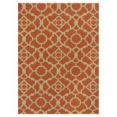 Kas Rugs Chateau Red/Beige 6 ft. 6 in. x 9 ft. 6 in. Area Rug