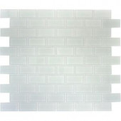 MS International Arctic Ice Mosaic 1 in. x 2 in. Glass Floor and Wall Tile